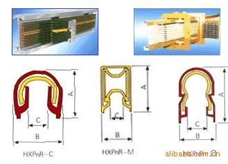 M型、C型、Ω型单极组合式滑线